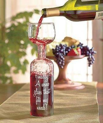 The Wine Bottle Glass - Holds A Whole Bottle (750Ml) Novelty Gag Gift Shots