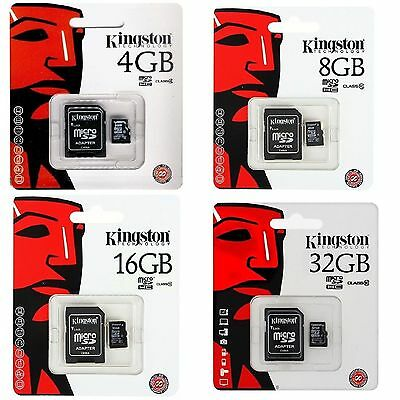Tarjeta Memoria Kingston Microsd Micro Sd 4 8 16 32 64 4Gb 8Gb 16Gb 32Gb 64Gb