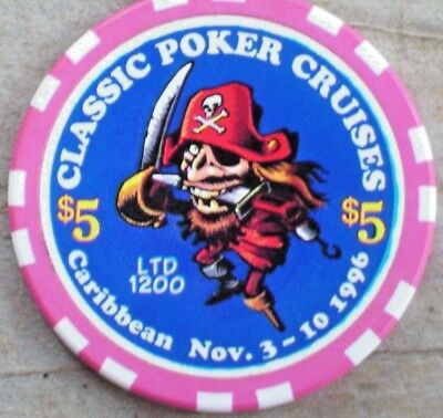 $5 Ltd (1200) Gaming Chip From The Classic Poker Cruise Line Casino