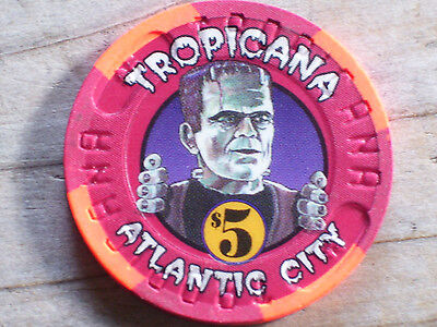 $5 Ltd 1996 Halloween Gaming Chip From The Tropicana Casino Atlantic City