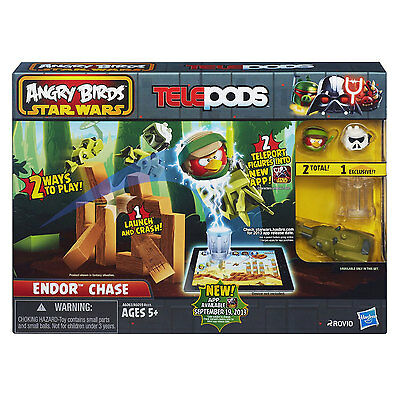 Childrens Angry Birds Star Wars TelePods Vehicle Pack For Ages 5+ New - Endor