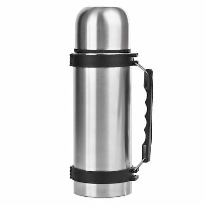 1 Litre Stainless Steel Thermal Hot & Cold Vacuum Bullet Flask With Carry Handle