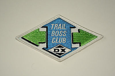 Vintage DX Oil & Gas Co.Trail Boss Club Cloth Car Jacket Patch New NOS 1970s