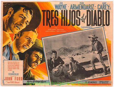 3 GODFATHERS Lobby Card Size 12.5x17 Movie Poster Mexican C JOHN WAYNE ( Three )
