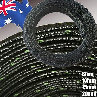 8mm 10mm 15mm 20mm Braided Cable Sleeve Techflex Flexo PET Expandable  TTUBE 23