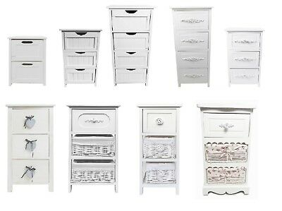 Assembled White Shabby Chic Kids Playroom Bedside Table Storage Unit Cabinet