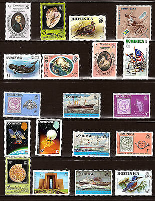 DOMINICA Timbres neufs:bateaux,animaux,satellites,sujets divers 296T1