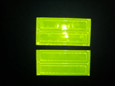 """LIME/YELLOW Rectangle Sticker Decals 4 Reflective 4"""" x 1"""""""