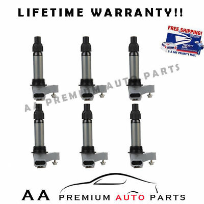 For Buick Cadillac Chevrolet Gmc Pontiac Ignition Coils Premium  Pack Of 6