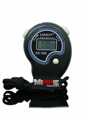New Digital Sports HandHeld Stopwatch Time Clock Stop Watch Alarm Counter Timer