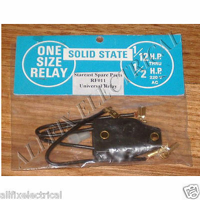 Universal Fridge Solid State Start Relay 1/12HP - 1/2HP - Part # RF011