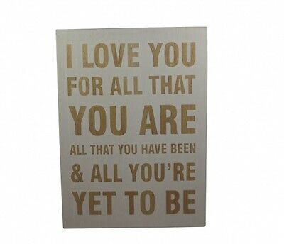 Gisela Graham I Love You For All That You Are - Anniversary Gift idea -Engagemet