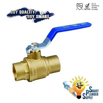 "Sweat Shut Off Ball Valve 1/2"" inch full port (320-01) - Lead Free"