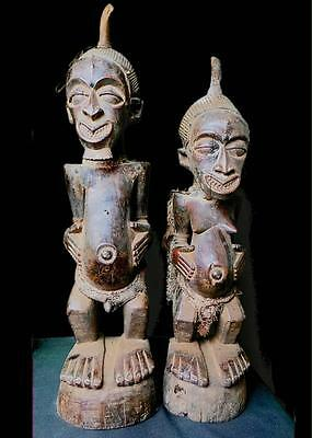 Fine Tribal Songye Couple Power Figure DRC