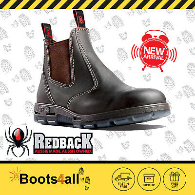 REDBACK Work Boots USBOK Easy Escape Steel Toe Dark Brown Leather UK SIZE