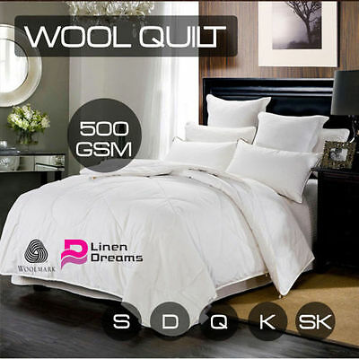 100% Australia Wool Quilt Single/Double/Queen/King/Super King--500GSM