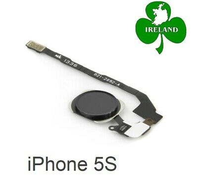 For iPhone 5s Black Fingerprint Touch ID Home Button Flex Cable Replacement