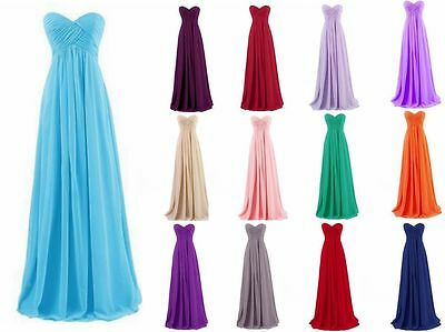 New Long Chiffon Bridesmaid Prom Dress Formal Gown Party Cocktail Evening 6-18