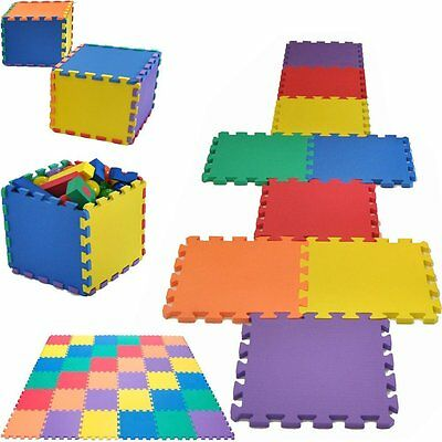 18Pcs Kids Baby Eva Interlocking Soft Foam Activity Play Mat Set Tiles Floor Mat