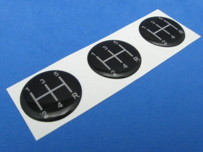 5 Speed Pattern #2 Domed Decal Emblem Sticker Set Of Three #502