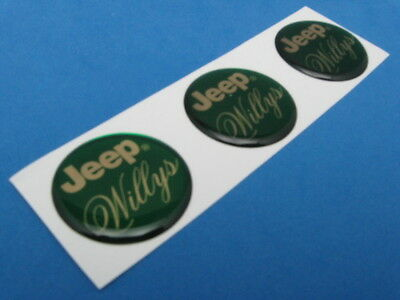 Willys Willy's Jeep Domed Decal Emblem Sticker Set Of Three #275