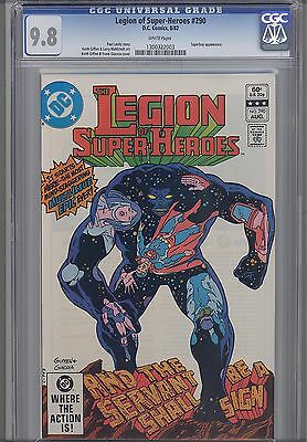 Legion of Super Heroes #290  CGC 9.8 1982 DC Comic: Keith Giffen Cover Superboy