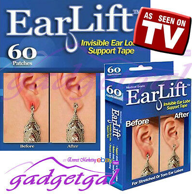 New Ear Lift - Invisible lifts protect lobes. Heavy earring support. Pack of 60