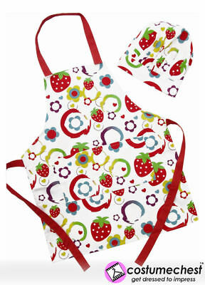 Sugar & Spice Strawberries Apron & Chef's Hat Set For Children by Shreds