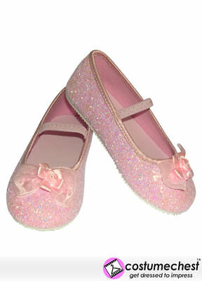 EU 23-24 Pink Glitter Sparkle Girls Party Dress Costume Fairy Shoes Travis
