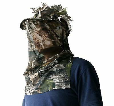 Woodland Camo 3D Camouflage 3D Sneaky Cap With Facemask Paintball Hunting