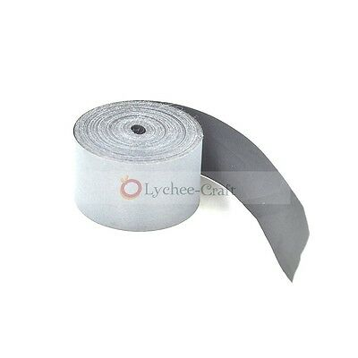 25mm Width Silver Reflective Tape Safety Conspicuity Sew on Trim Fabric 5 Meters