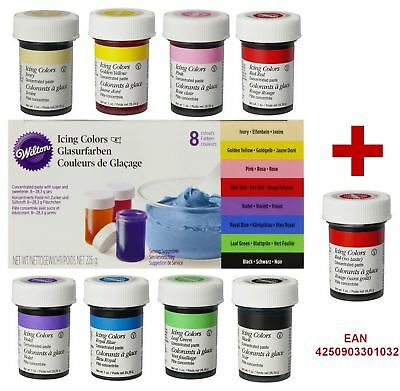 Wilton Icing Colors Lebensmittelfarbe 8 + 1 Gelfarbe Fondant Red No Taste