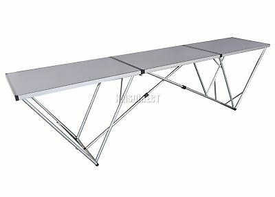 FoxHunter 10FT 3 Section Portable Folding Trestle Wall Paper Pasting Table ALU