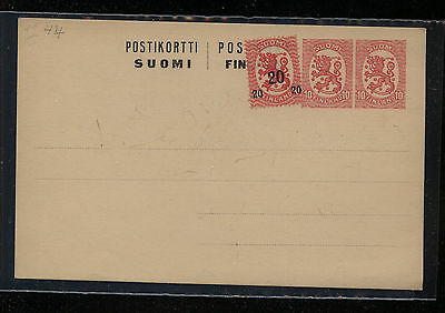 Finland  uprated double embossed postal card unused                  PS0604