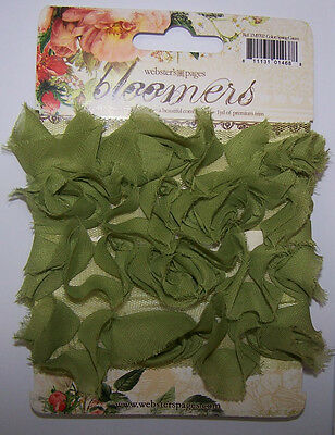 * Webster's Pages ROSES BLOOMERS SPRING GREEN 1 yard Fabric Trim