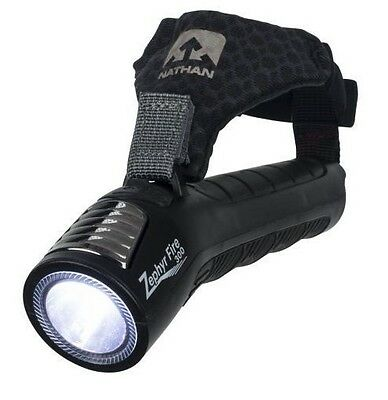 Nathan Zephyr Fire 300 Hand Torch Rechargeable Running Flashlight Black 5091NBE