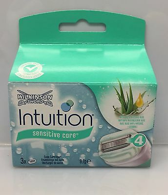 3x WILKINSON INTUITION NATURALS SENSITIVE CARE RASIERKLINGEN NEU