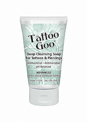 3 x TUBES OF TATTOO GOO DEEP CLEANSING SOAP 59ml (2oz) FOR TATTOOS & PIERCINGS