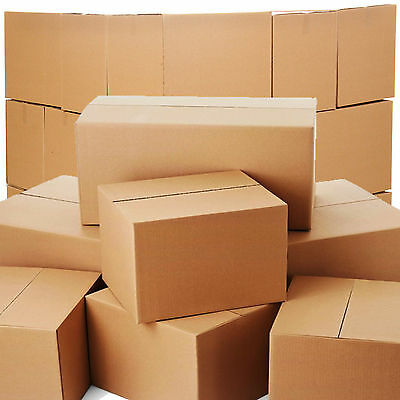 10 X Large DOUBLE Wall Cardboard House Moving Removal Packing Boxes