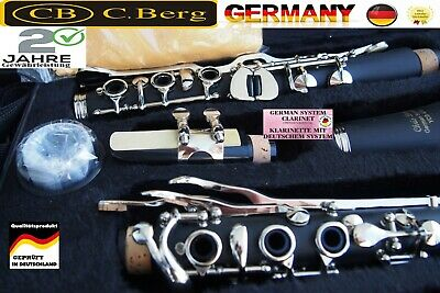Klarinette deutsches System German 21 Klappen Holzblasinstrument German Clarinet