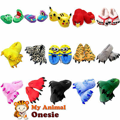 Adult Animal claw Slippers Onsie Minion pikachu slippers Feet Footwear Paw