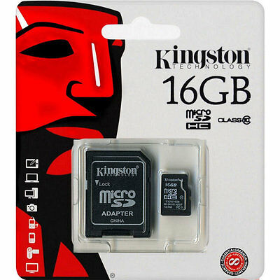 Tarjeta Memoria Kingston 16 Gb Micro Sd Clase 10