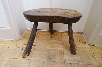 Vintage wooden stool, farm, country style, [ large and heavy ], beautiful stool • £145.00