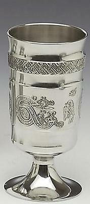 Irish Pewter Goblet Inspired by illustrations from the Book of Kells