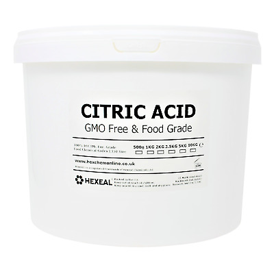CITRIC ACID | 10KG BUCKET | 100% Anhydrous | BP/Food Grade | Additive, Bath