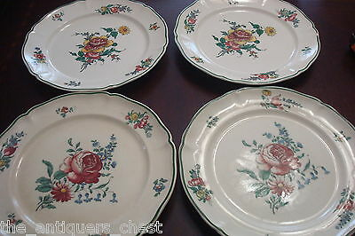 4 Antique Villeroy u0026 Boch Dinner Plates 10  Mettlach Germany 1890s ... & 4 ANTIQUE VILLEROY u0026 Boch Dinner Plates 10