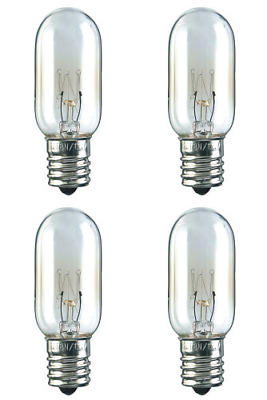 Three Bulbs 25T8N Clear 25 Watt 130 Volt E17 Intermediate Base 25W Microwave etc