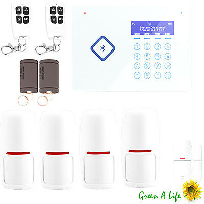 iOS App 50 Zones Touch Panel Wireless Home GSM SMS Security Door Alarm System