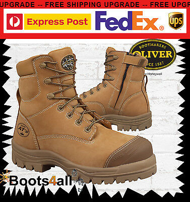 Oliver At's Men's Safety Work Boots Zip METAL FREE Composite Toe Bump Cap 45632Z