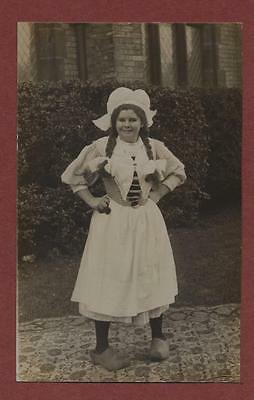 London. Southgate. Young Lady costume clogs W.S. Atwood & Son  c.1913    q.689